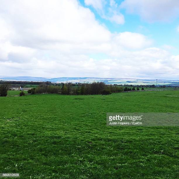 rural landscape against cloudy sky - barnard castle stock pictures, royalty-free photos & images