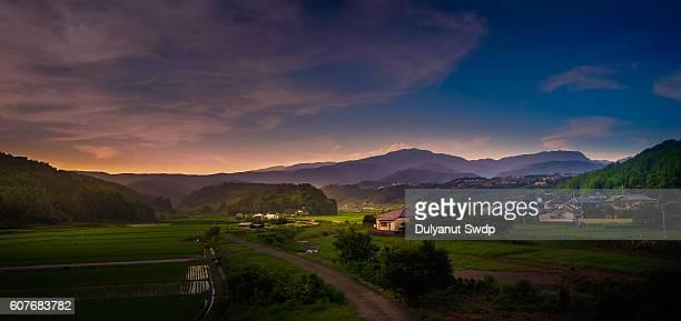 rural landscape at saga , japan - 農村の風景 ストックフォトと画像