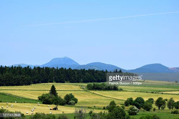 rural landscape, auvergne rhone alpes, france - auvergne rhône alpes stock pictures, royalty-free photos & images
