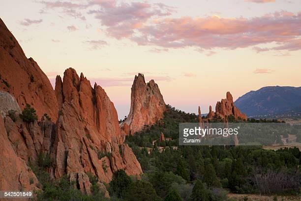 rural landscape, colorado springs, colorado, america, usa - garden of the gods stock photos and pictures