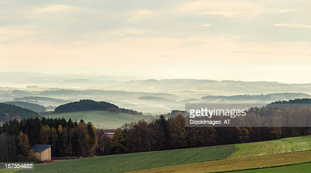 rural landscape in austria - linz stock pictures, royalty-free photos & images