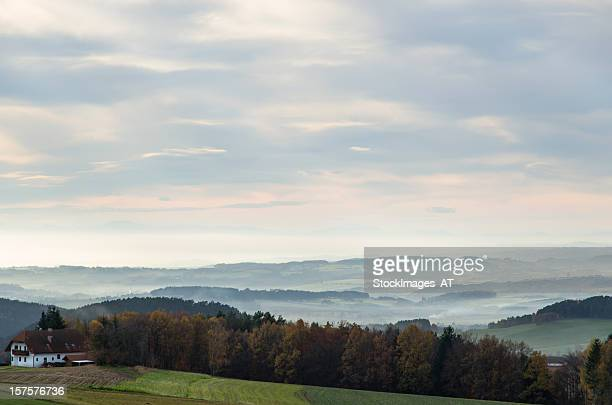 rural landscape in austria - upper austria stock pictures, royalty-free photos & images