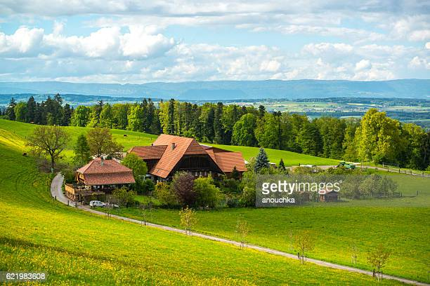 Rural landscape in Switzerland