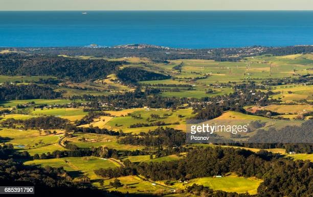 Rural landscape of New South Wales. View from Saddleback Mountain Lookout.