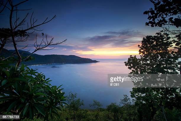 Rural landscape sunset, Lombok