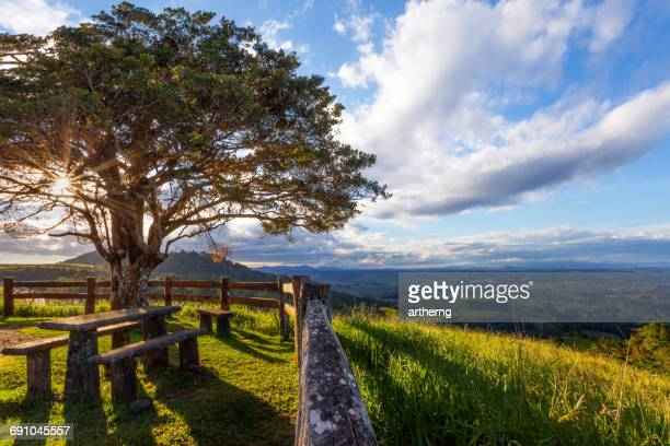 rural landscape view, atherton tableland, cairns, queensland, australia - atherton tableland stock pictures, royalty-free photos & images