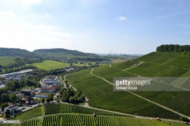 Rural landscape with fields, Weinsberg, Heilbronn, Baden-Wurttenberg, Germany