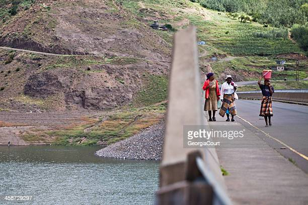 rural lesotho women - lesotho stock photos and pictures