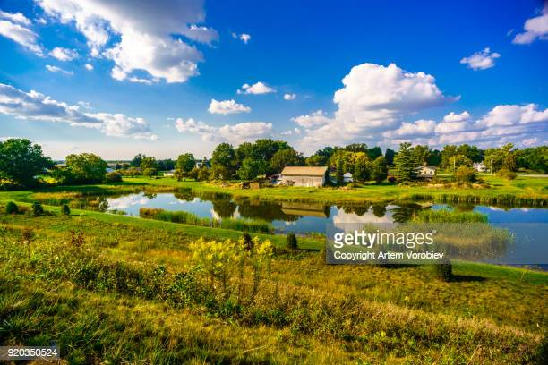 rural ohio in the summer - ohio stock pictures, royalty-free photos & images