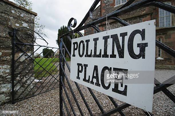 Rural polling place in Dumfries and Galloway Scotland