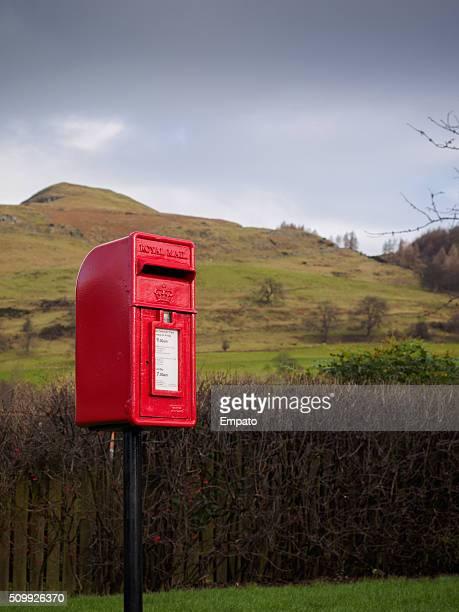 Rural postbox in Alva, Scotland, UNITED KINGDOM