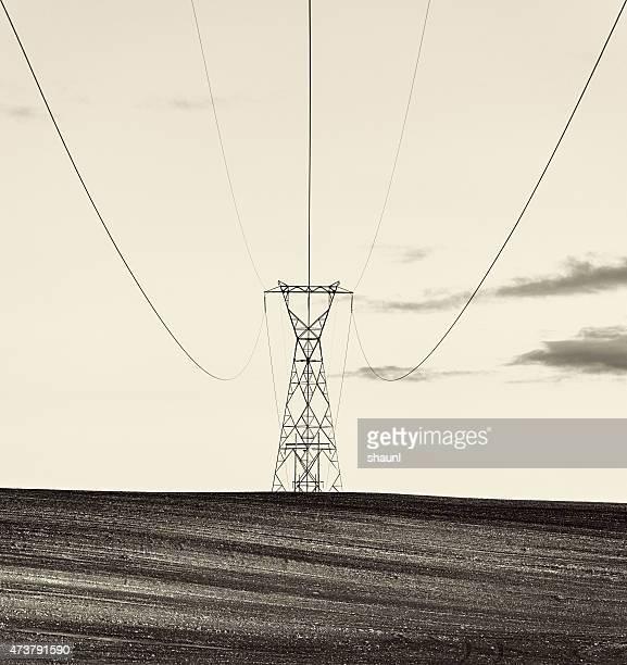 Rural líneas de potencia
