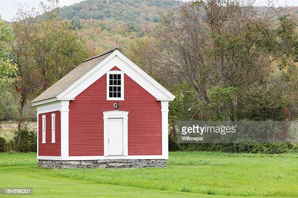 Rural Red One Room School House