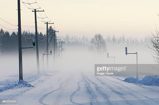 Rural Road In Winter