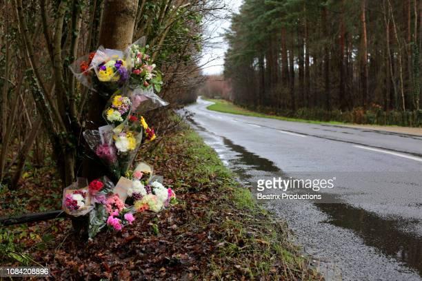 Rural roadside memorial