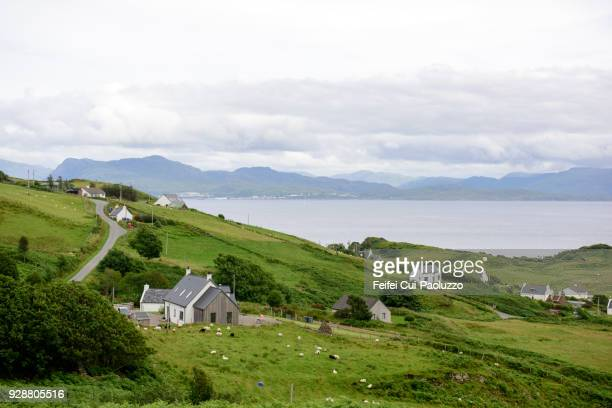 rural scene at aird of sleat, highland, isle of skye, scotland - scottish culture stock pictures, royalty-free photos & images