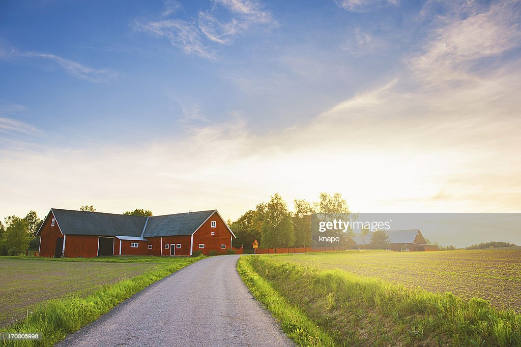 Rural scene in Sweden : Stockfoto