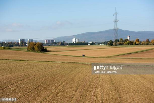 Rural scene near Frankfurt, Hesse state, Germany