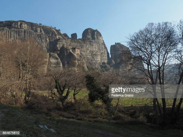 Rural Scene With  St. Nikolaos Monastery, Meteora, Greece