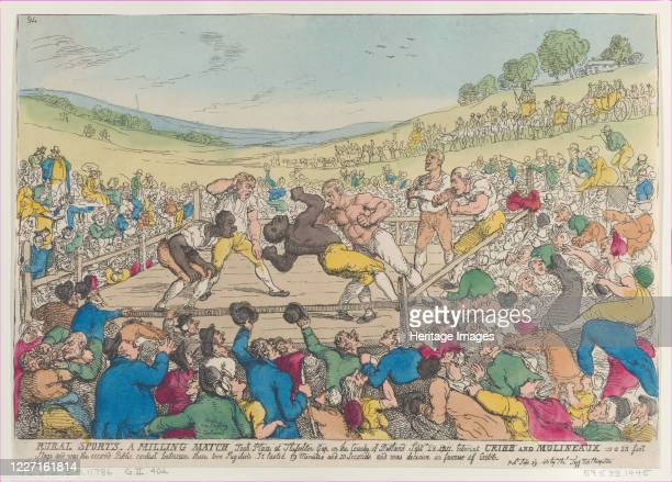 Rural Sports, A Milling Match, September 29, 1811. Artist Thomas Rowlandson.