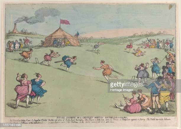 Rural Sports or a Cricket Match Extraordinary October 10 1811 Artist Thomas Rowlandson