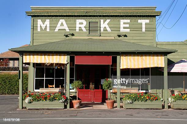 rural store market building in country small town america - store stock pictures, royalty-free photos & images