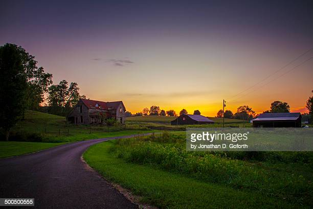 rural sunset - eubank stock photos and pictures