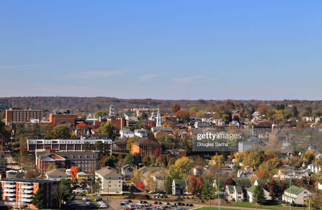 Rural Town and College Campus, Athens, Ohio, USA : Stock Photo
