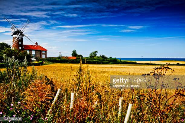 rural views of sheringham norfolk - bavosi stock pictures, royalty-free photos & images