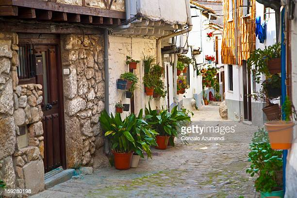 rural village in extremadura. - extremadura stock pictures, royalty-free photos & images
