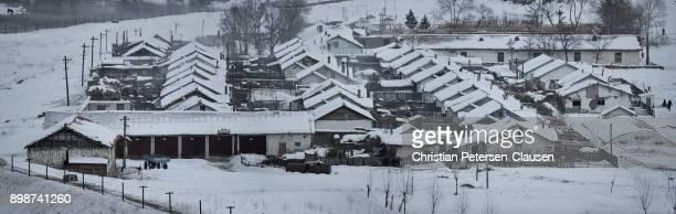 Rural village in North Korea near Hyesan