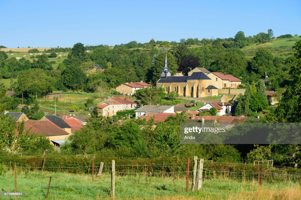 Rural village of Bievres (north-eastern France).
