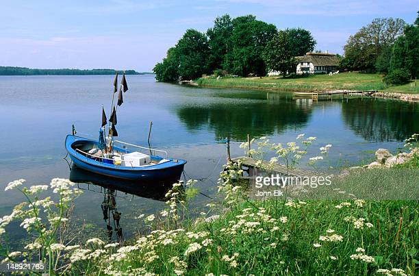 rural waterfront. - funen stock pictures, royalty-free photos & images