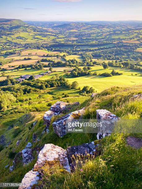 rural welsh landscape - brecon beacons stock pictures, royalty-free photos & images