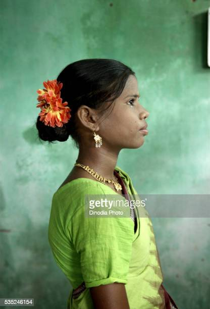 Rural young girl in Sambalpur, Orissa, India.
