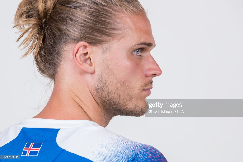 Rurik Gislason of Iceland poses during the official FIFA World Cup 2018 portrait session at Resort Centre Nadezhda on June 11, 2018 in Gelendzhik, Russia.