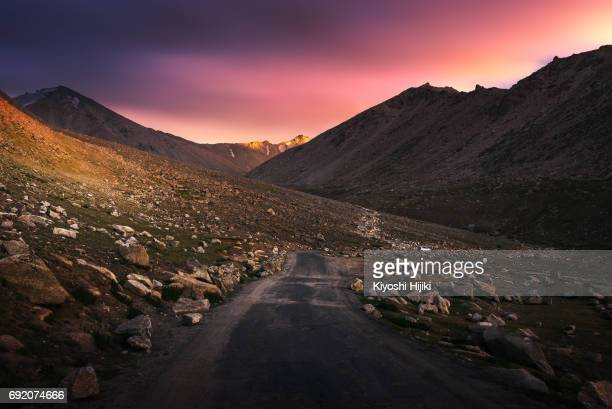 Rurul road in Ladakh region, India