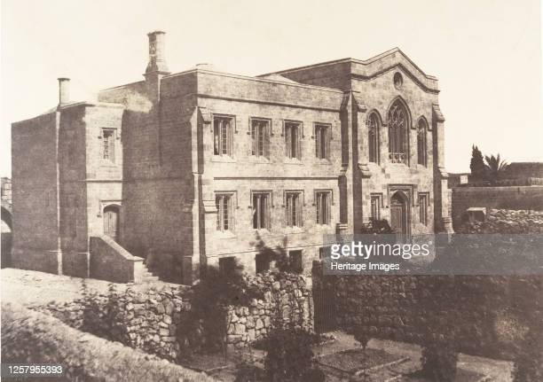 Rusalem, Chapelle anglaise, 1854. Artist Auguste Salzmann.