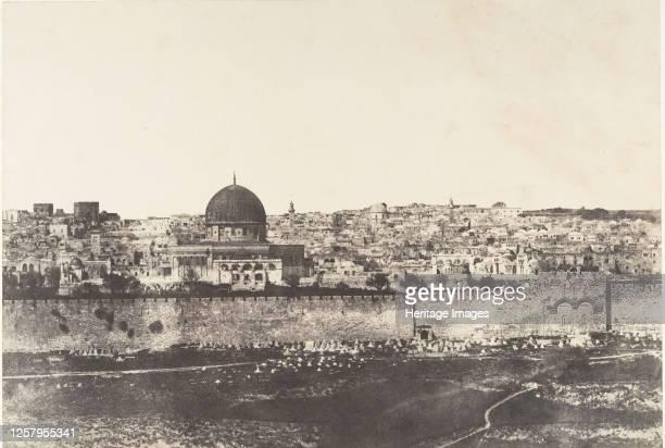 J�rusalem Enceinte du Temple Vue g�n�rale de la face Est Pl 2 1854 Artist Auguste Salzmann