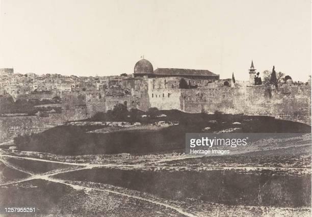 J�rusalem Enceinte du Temple Vue g�n�rale de la face Sud 1 1854 Artist Auguste Salzmann