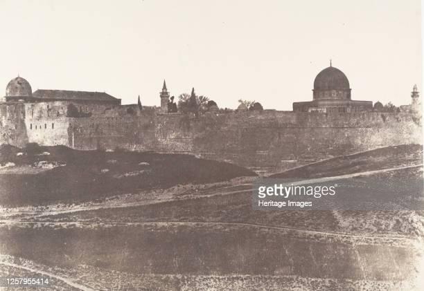 J�rusalem Enceinte du Temple Vue g�n�rale de la face Sud 2 1854 Artist Auguste Salzmann