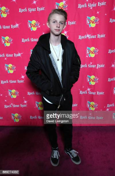 Rush Butler attends social media influencer Annie LeBlanc's 13th birthday party at Calamigos Beach Club on December 9 2017 in Malibu California