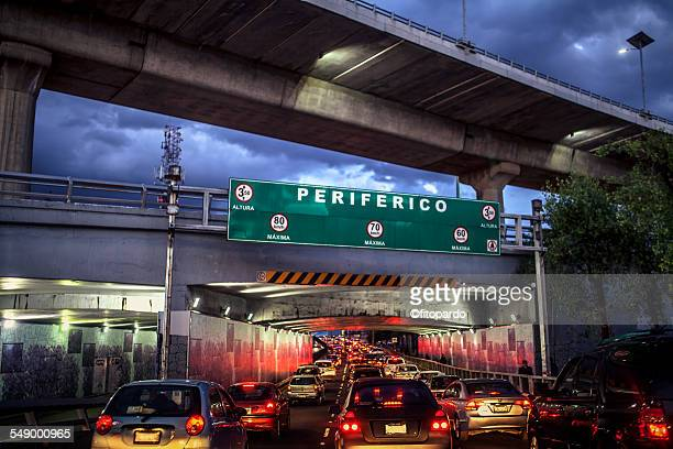 Rush hour at the Periferico in Mexico City