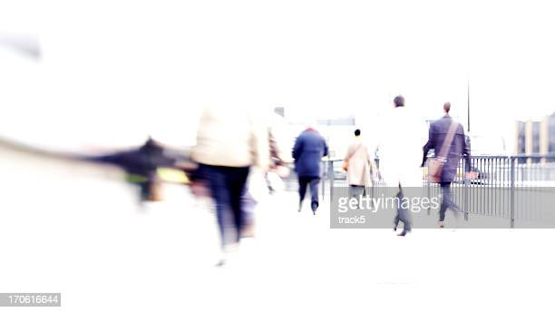 rush hour: business travel abstract blur