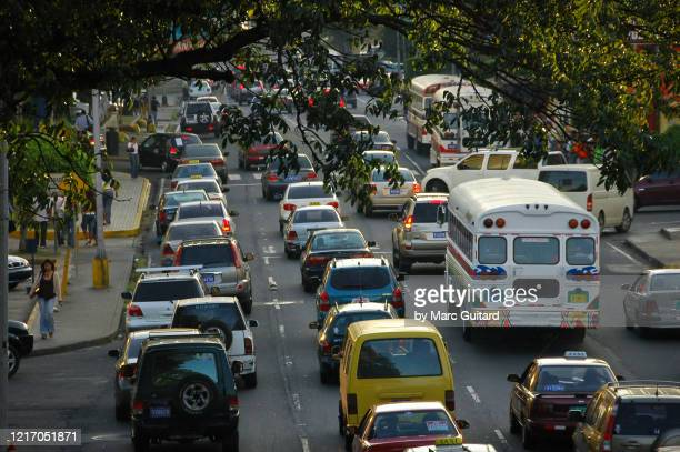 rush hour in panama city, panama - latin america stock pictures, royalty-free photos & images