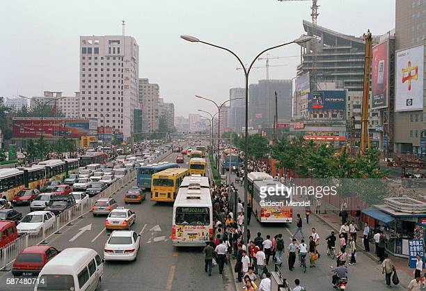 Rush hour in the streets of the rapidly modernising Zhongguancun district This district is known as the computer district of Beijing and has been...