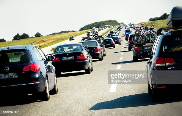 Rush Hour on the Highway A1 Autobahn, Germany