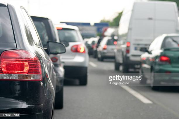 rush hour on the highway - north rhine westphalia stock pictures, royalty-free photos & images