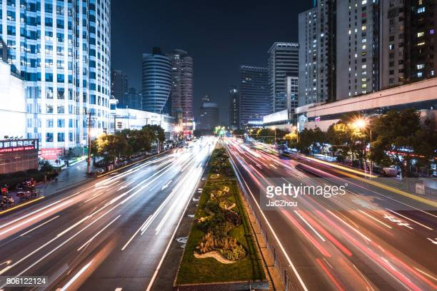 rush hour - vehicle light stock photos and pictures