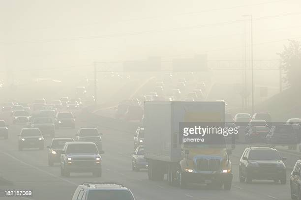 rush hour smog - smog stock pictures, royalty-free photos & images
